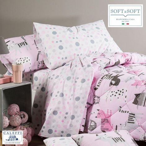 KATY Sheet Set for SINGLE Bed in Cotton CALEFFI