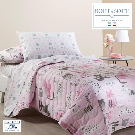KATY quilted spring bedspread for Caleffi single bed