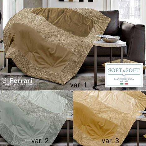 KRONOS plaid patchwork imbottito in velluto 130x160