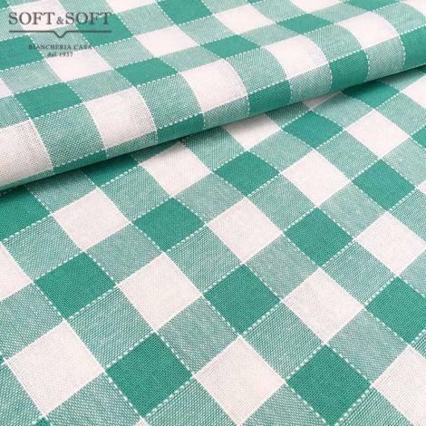 tessuto quadretti verdi