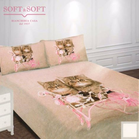 Living Sheets / bedspreads for single bed Parure Cats