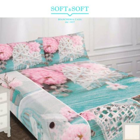 Living Sheets / bedspreads for single bed Parure shabby