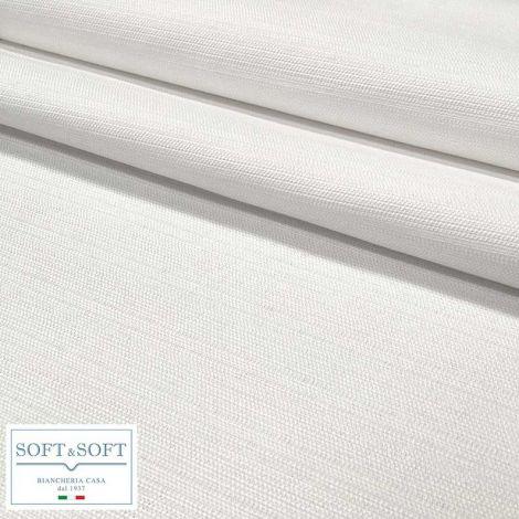 LONDRA Tovaglia su misura Quadrata Rettangolare Rotonda misto cotone Indanthrene-Bianco