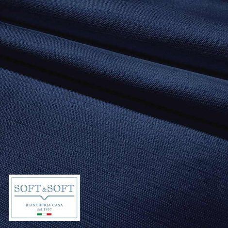 LONDRA Tovaglia su misura Quadrata Rettangolare Rotonda misto cotone Indanthrene-Blu