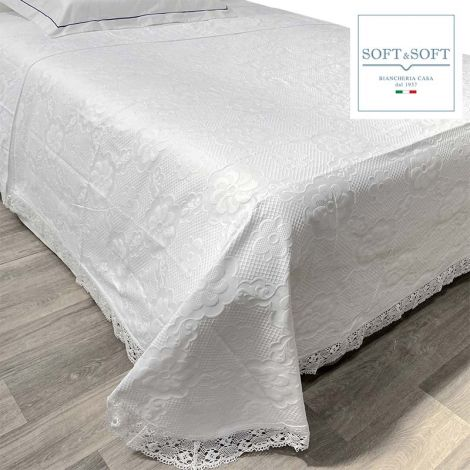 Copriletto in cotone per letto misura PIAZZA E MEZZA Love Night