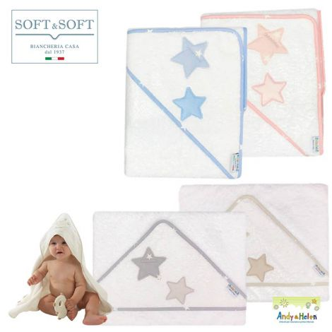 TEDDY D50 accappatoio neonato Baby triangolo 75x75 Spugna di Cotone