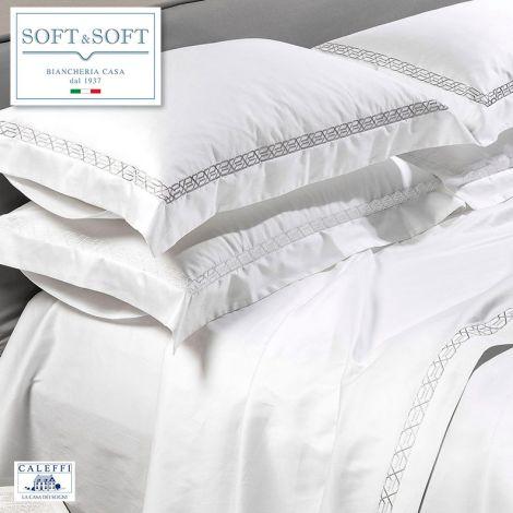 LUXOR lenzuola per letto matrimoniale in Raso di puro cotone - Caleffi