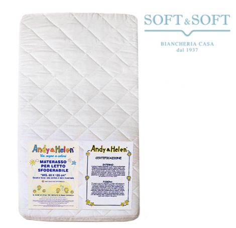 Mattress for baby bed removable cm 60x125x10h