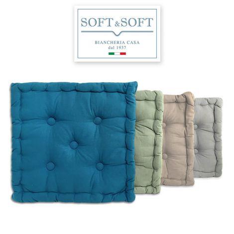 MATTONELLA Cuscino arredo a materassino futon cm 40x40x10