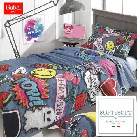 Medley duvet cover for single bed and a half Gabel 200x200 cm