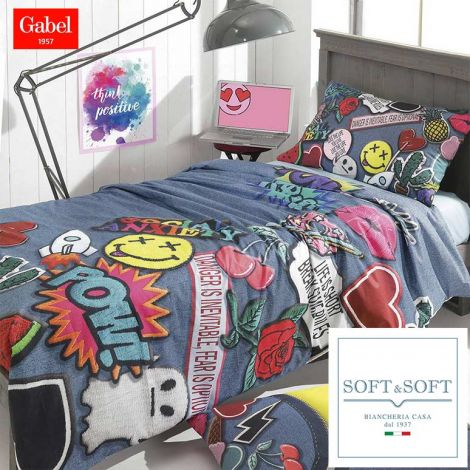 Medley duvet cover for Gabel modern single bed