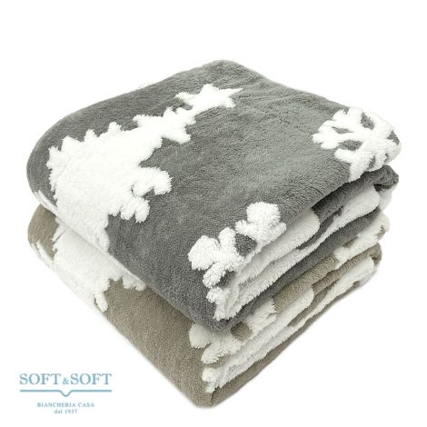 BOMBETTA Plaid Pile doubled with sherpa interior cm 130x160