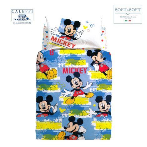 MICKEY ADVENTURE CALEFFI Disney SINGLE Duvet Cover Set
