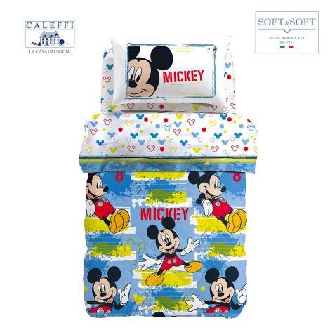 MICKEY AVVENTURA trapunta invernale cotone misura SINGOLA Disney CALEFFI