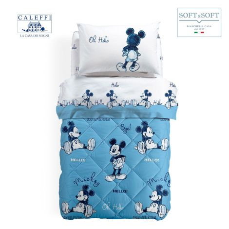 MICKEY OK Quilt for single bed Disney by CALEFFI