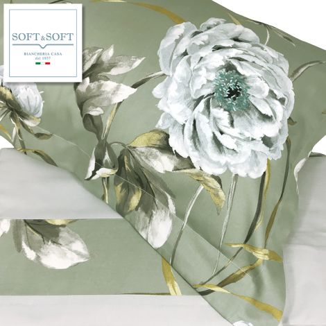 MINERVA duvet cover for double bed in Cotton Satin - complete