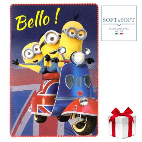 MINIONS Bello plaid fleece baby blanket 100x150 cm