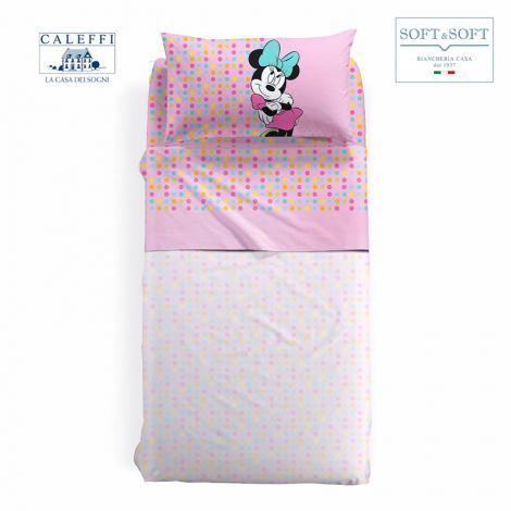 MINNIE GAIA Sheet Set for THREE QUARTER bed Disney by Caleffi
