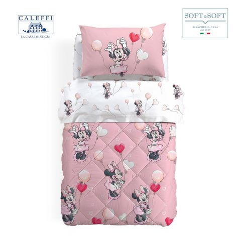 MINNIE LOVE Quilt for three quarter Bed Disney by CALEFFI