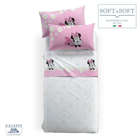 MINNIE MARGHERITE Disney CALEFFI SINGLE fitted sheets set