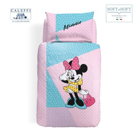 MINNIE PINK Duvet Cover Set for Disney CALEFFI Single Bed