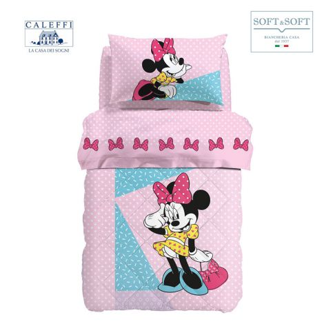 MINNIE PINK winter quilt for SINGLE cotton Disney by CALEFFI