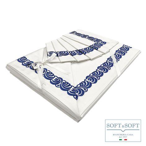 MIOLETTO completo lenzuola MATRIMONIALE in raso di puro cotone