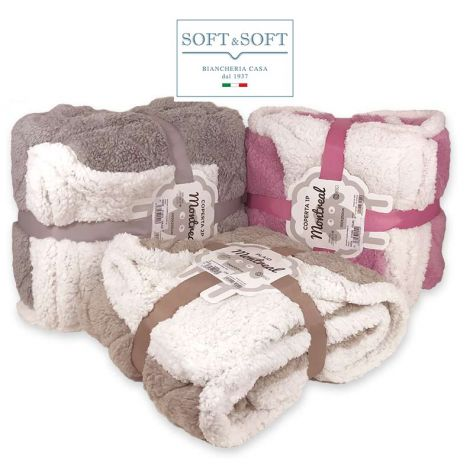 Montreal coperta plaid morbidissimo da divano o letto matrimoniale cm 200x230
