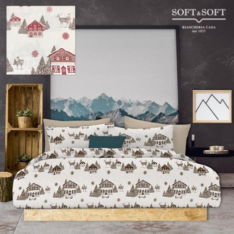 MOUNTAIN duvet cover parure for single bed digital print