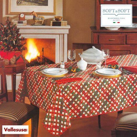 NATALE servizio tavola natalizio tovaglia 150x180 + 6 tovaglioli Vallesusa