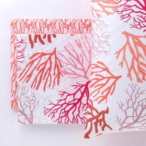 NEMO completo lenzuola da letto SINGOLO puro cotone-Corallo