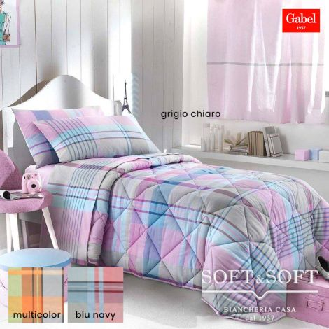 OFF GRID Winter Quilt THREE-QUARTER Bed Size in Cotton Fabric by GABEL