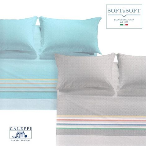 OREGON three-quarter bed size sheets in CALEFFI cotton