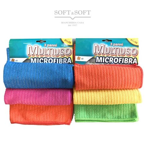 Multipurpose MICROFIBER CLOTH Set 3 Pieces for all surfaces