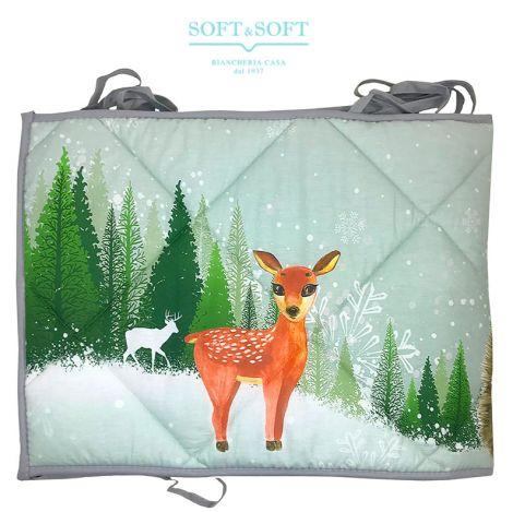 Bumper for cot Fawn