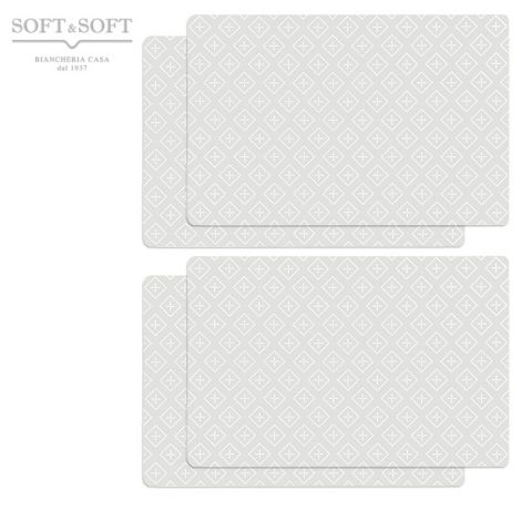 PASTEL pvc placemat SET 4 pieces - green water