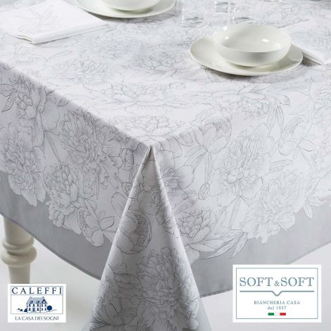 PEONIE kitchen tablecloth 150x240 cm in pure cotton