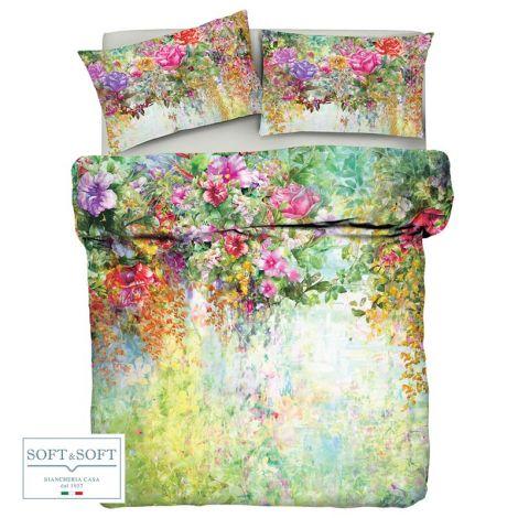 POETRY copripiumino letto piazza e mezza cm 200x200 fiori