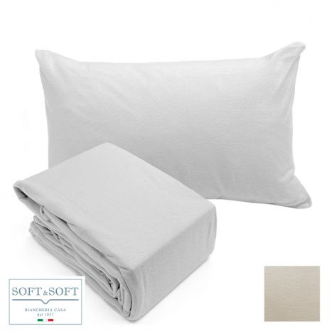 POLO NORD sheets set fleece DOUBLE BED size