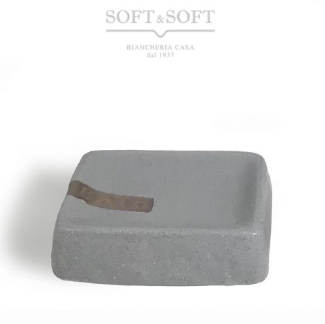 SAND Marble gray ceramic soap dish rectangular