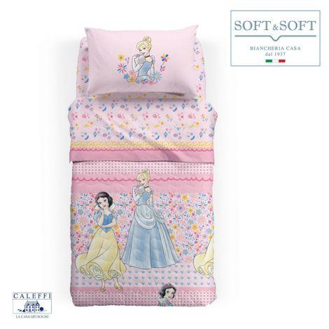 PRINCESS ROMANCE Quilt Bedspread SINGLE Size 165x265 Disney CALEFFI