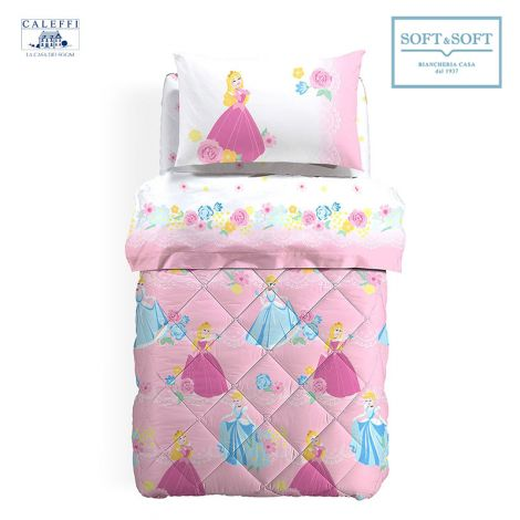 PRINCESS ROMANTIC Quilt for Single Bed Disney by CALEFFI