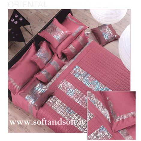 ORIENTAL Sheets Set for double beds Cotton Satin