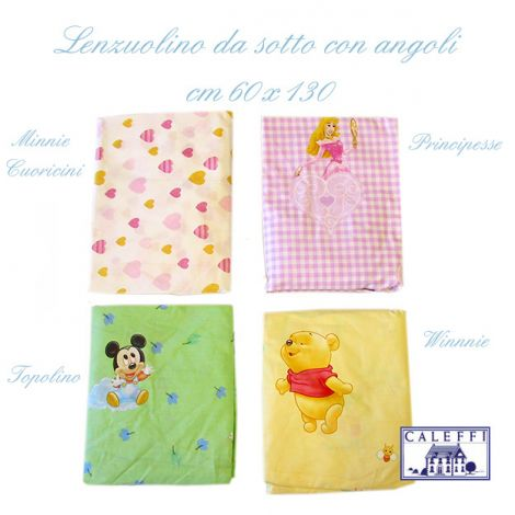 Fitted sheet for cots Disney cm 60x130