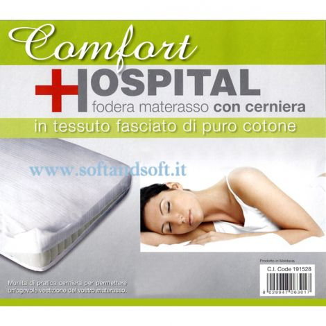 HOSPITAL mattres cover with Zip for SINGLE bed
