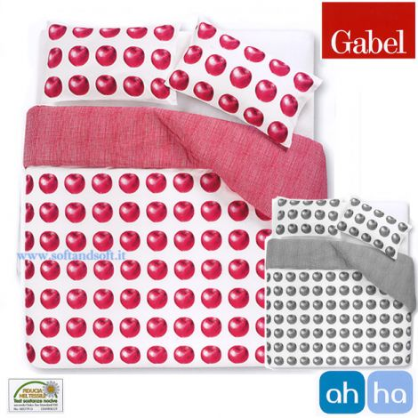 AHHA 1001 Duvet Cover Set for single Bed GABEL Gray