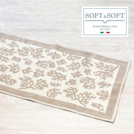 REEF coral jacquard carpet 60x110 cm pure cotton