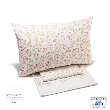 RIVIERA complete sheets three quarter bed cotton CALEFFI-Pink
