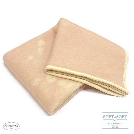 ROBERTA single blanket in pure virgin wool SOMMA 160x210 cm