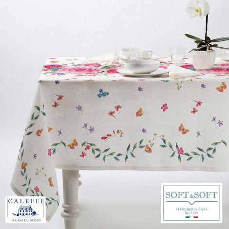 ROSETO kitchen tablecloth 150x240 cm in pure cotton